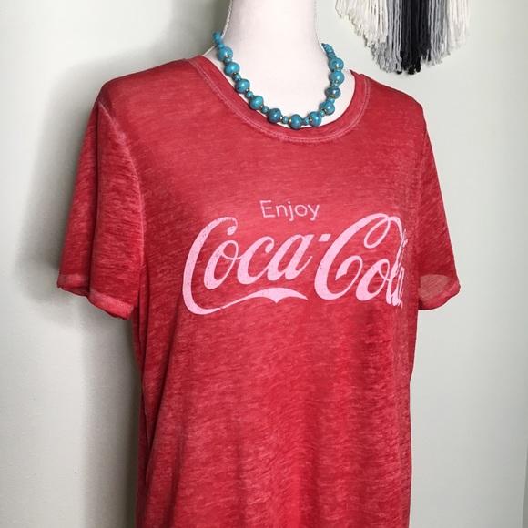 a1ad16c993f Coca Cola Tops - Coca-Cola Classic Red Logo Burnout Tee XXL